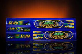 Наклейка  JAWA  (5шт, синий)