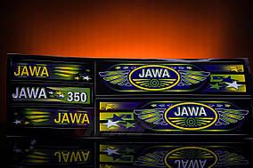 Наклейка  JAWA  (5шт, чёрный)