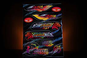 Наклейка  JAWA  (9шт, чёрный)