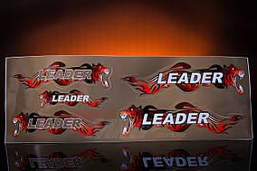 Наклейка  Leader  (5шт, коричневый)