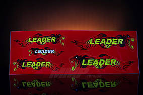 Наклейка  Leader  (5шт, красный)