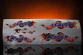 Наклейка  Leader  (5шт, серый)