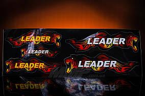 Наклейка  Leader  (5шт, чёрный) (OFIS)
