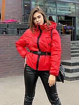 Стильная короткая женская куртка под пояс-резинку oversize 42-46 р, фото 2