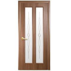 Двери Стелла ПВХ 2000 *700 мм золотая ольха с рисунком