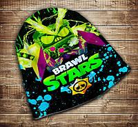 Шапка с 3D принтом Бравл Старс Вирус Неон Brawl Stars Все размеры, все сезоны.