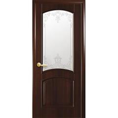 Двери Антре ПВХ 2000*900 мм каштан с рисунком №3