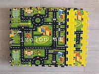 Детский коврик-пазл (мягкий пол татами ласточкин хвост) IZOLON EVA ДОРОГА 500х500х10мм