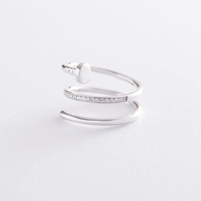 """Золотое кольцо """"Гвоздь"""" (фианит) гк04376"""