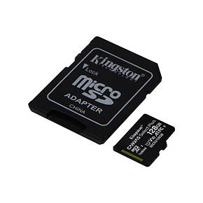 Карта памяти MicroSDXC 128GB UHS-I Class 10 Kingston Canvas Select Plus R100MB/s + SD-адаптер (SDCS2/128GB), фото 2