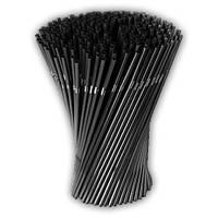 Соломка трубочка для коктейлей с гофрой черная для коктейлей напитков 215 мм d= 5 мм 1000 шт, фото 1