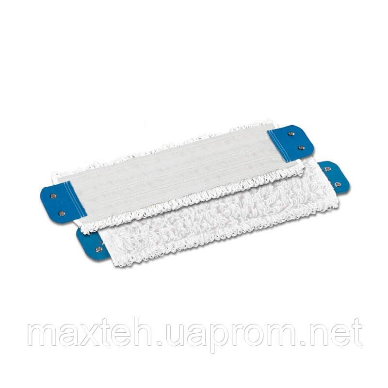 Моп плоский стандарт голубой Spody из микрофибры, петельчатый 40х13