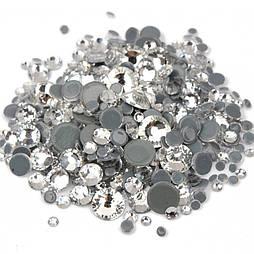 Скляні камені різного розміру S3-SS12 720шт білі