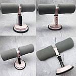 Тренажер для пресса напольный универсальный Adna Press на присосках тренажер для дома розовый лучше чем диета, фото 2