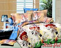 Детский комплект постельного белья 3Д полуторный, ранфорс 100% хлопок. (арт.4275)