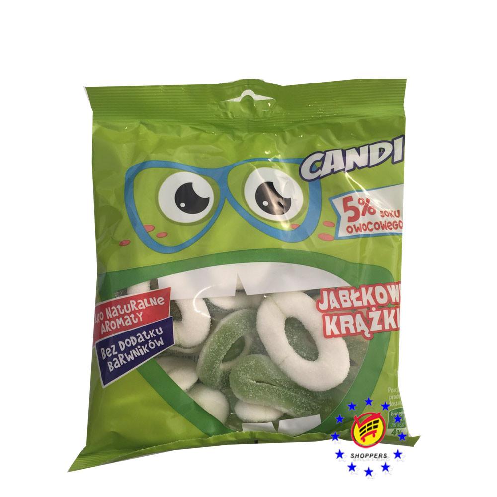 Жевательные конфеты Candi яблочные колечки 200 г