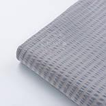 Тканина бавовняна жатка, сірого кольору, ширина 240 см, фото 5