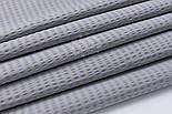 Тканина бавовняна жатка, сірого кольору, ширина 240 см, фото 4