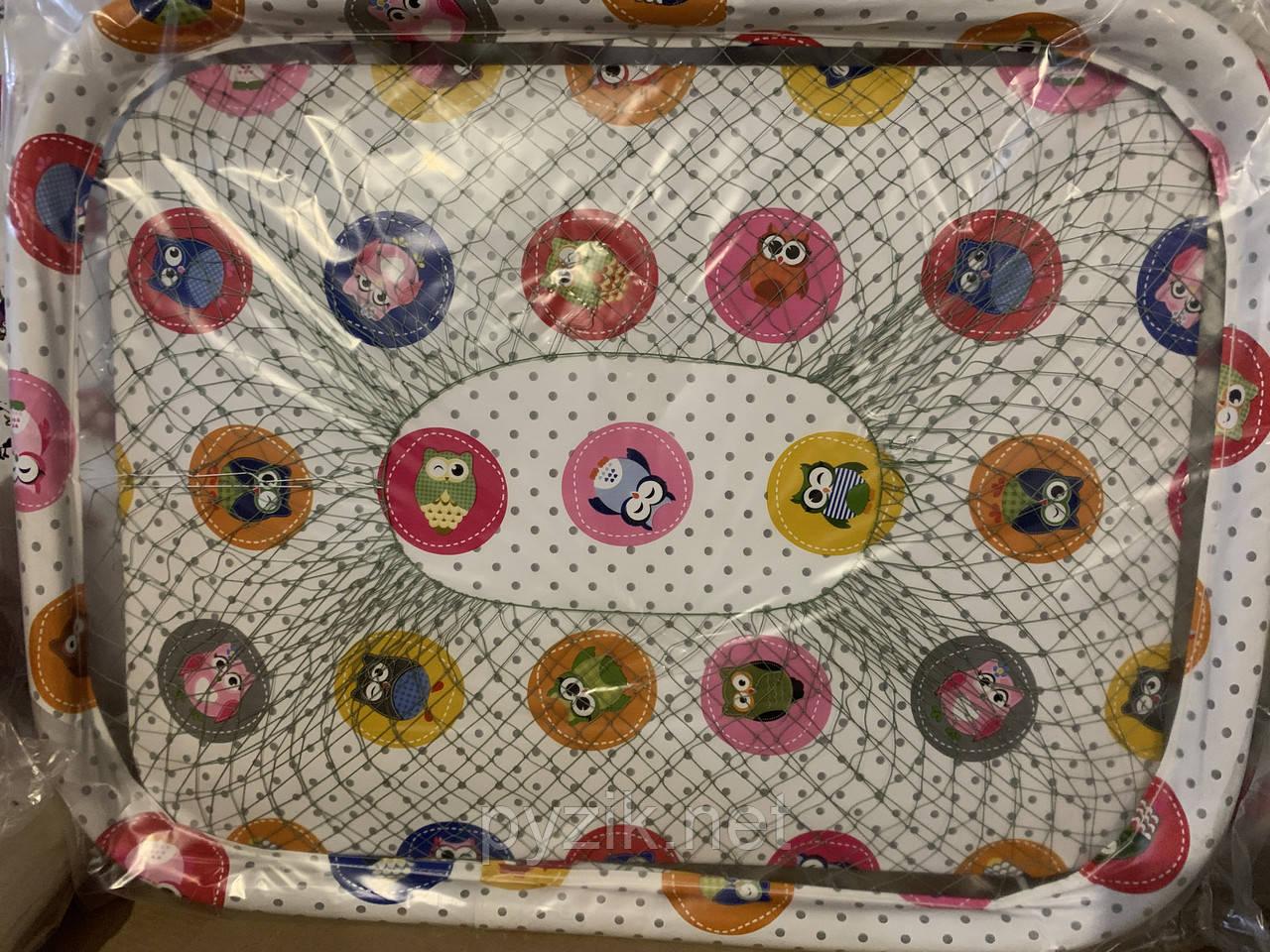 Манеж детский с крупной сеткой Kinderbox, Совята