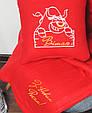 """Подарунковий набір: подушка + плед з новорічною вишивкою """"З Новим Роком! """" 30 цвет на выбор, фото 2"""