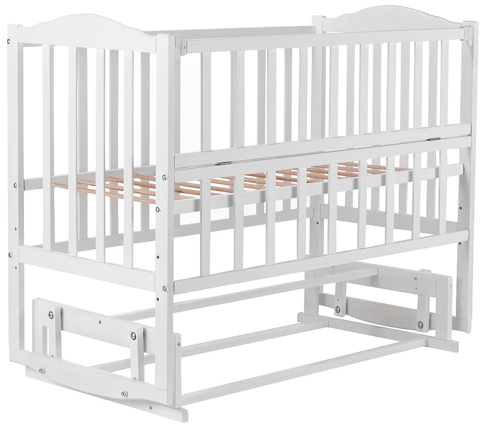 Детская кроватка Babyroom Зайченок ZL200 на маятнике с откидной боковиной Пром