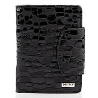 Женский кошелек портмоне кожаный компактный тонкий Desisan черный (t086)