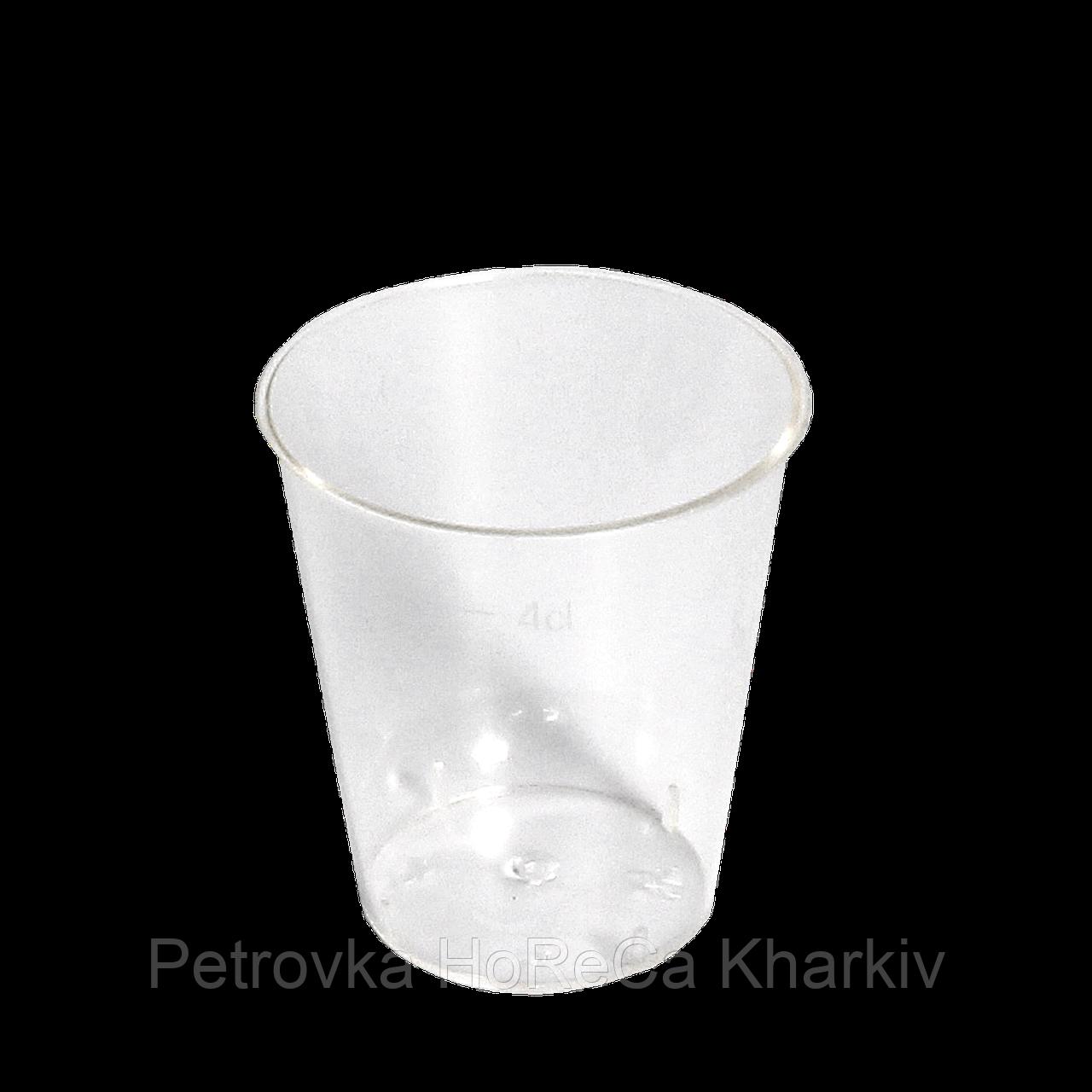 Рюмка стеклоподобная, обьем 40 гр ( без ножки), уп/40шт