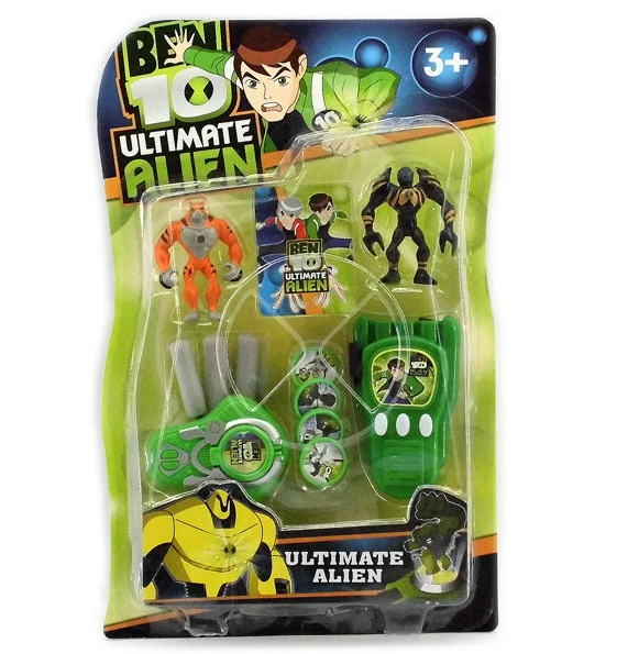 Набір фігурок супергероїв Бен 10 з зброєю і аксесуарами - Superheroes, Ben 10, Ultimate Alien, Bandai