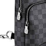 Слинг сумка Louis Vuitton Avenue 19842 серо-черная, фото 3