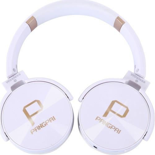 Беспроводные наушники Bluetooth / microSD Pangpai JB950 белые