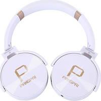 Беспроводные наушники Bluetooth / microSD Pangpai JB950 белые, фото 1