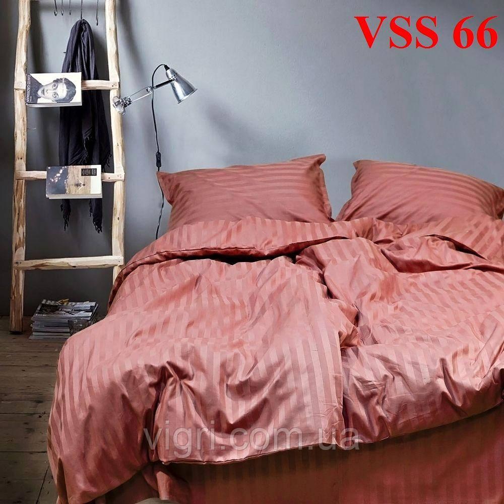 """Постельное белье двуспальное, сатин страйп """"Stripe"""", Вилюта «Viluta» VSS 66"""