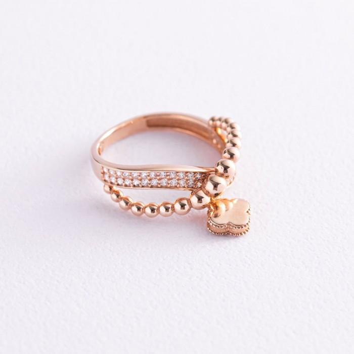 """Золотое кольцо """"Клевер"""" (фианит) гк06234"""