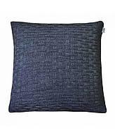 Декоративная вязаная наволочка на подушку Прованс Шато Графит 45*45