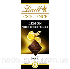 Шоколад Lindt EXCELLENCE Lemon with a touch of Ginger