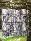 Декоративная 3D панель стеновая самоклеющаяся БАМБУКОВАЯ КЛАДКА ФИОЛЕТОВЫЙ 700х700х8.5мм, фото 4