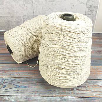 Хлопчатобумажная нить для изготовления свечей и макраме 1 мм 500 г 340 м в 3 нити текс 300, фото 2