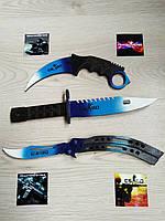Набор деревянных ножей из КС ГО (CS:GO) КЕРАМБИТ, БАБОЧКА, ШТЫК НОЖ М9. Драгон гласс