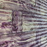 Декоративная 3D панель стеновая самоклеющаяся БАМБУКОВАЯ КЛАДКА ФИОЛЕТОВЫЙ 700х700х8.5мм (в упаковке 10 шт), фото 2