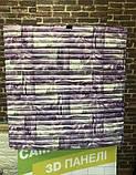 Декоративная 3D панель стеновая самоклеющаяся БАМБУКОВАЯ КЛАДКА ФИОЛЕТОВЫЙ 700х700х8.5мм (в упаковке 10 шт), фото 3
