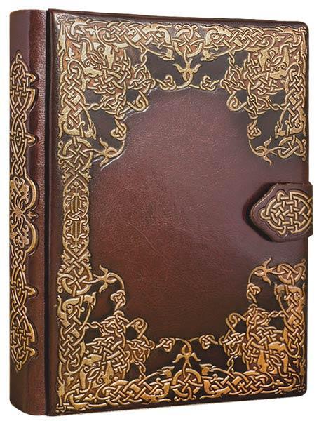 """Щоденник А5 в твердій палітурці зі штучної шкіри """"Слов'янський"""". Колір коричневий"""