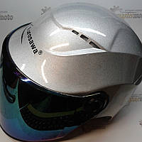 """Шлем мотоциклетный открытый серый R5 L(59-60) """"KUROSAWA"""""""