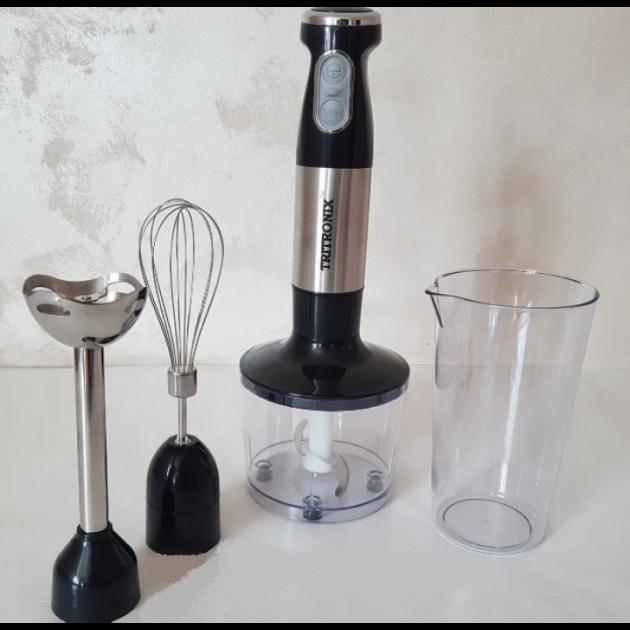 Ручной Блендер погружной Tritronix   кухонный многофункциональный 4в1 на 1000 Вт