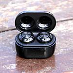 Зарядный кейс для беспроводных наушников Wi pods F6 черные, фото 4