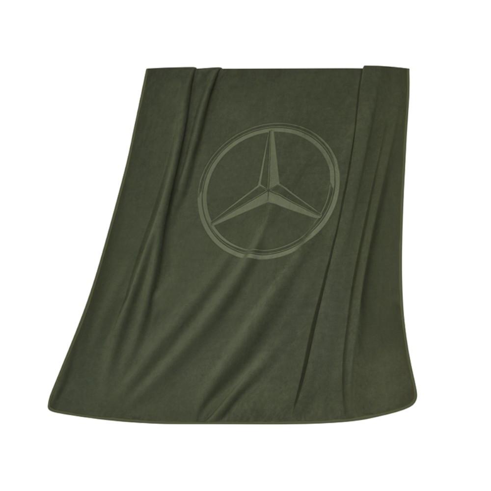 Двусторонний плед Mercedes Reversible Fleece Blanket, Khaki / Sand beige, артикул B66958972