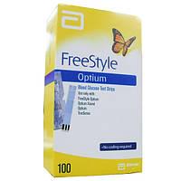 Тест-полоски для определения уровня глюкозы в крови «FreeStyle Optium» №100