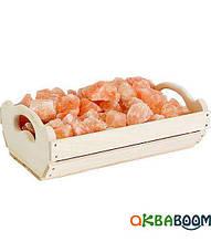 Ящик Greus з гімалайської сіллю 10 кг для лазні та сауни, Україна