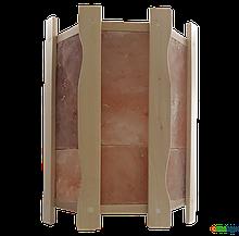Огорожа світильника кутове GREUS з гімалайської сіллю на 4,5 плитки для лазні та сауни, огорожа, Україна,