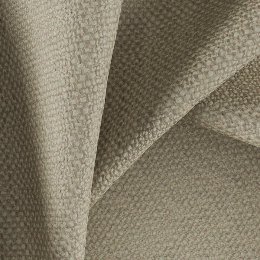 Мебельная фактурная ткань рогожка Рокко (Rocco) бежевого цвета