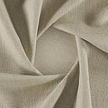 Мебельная фактурная ткань рогожка Рокко (Rocco) бежевого цвета, фото 3